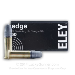 .22 LR 40 gr Lead Flat Nose Eley Edge 50 Rounds