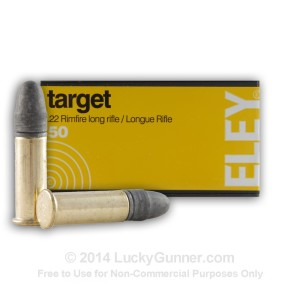 .22 LR 40 gr Lead Round Nose Eley Target 50 Rounds