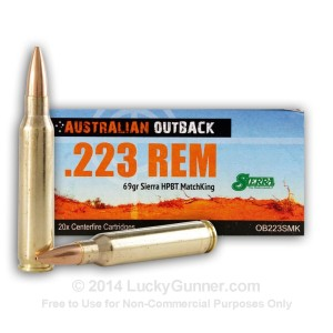 223 Rem 69 gr Sierra Hollow Point Boat Tail MatchKing